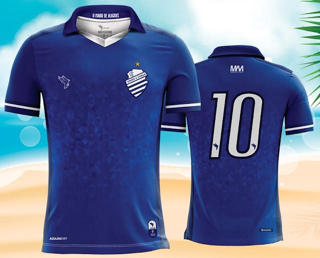 c19c176f63 Azulão divulga a nova camisa reserva do CSA - Show de Camisas