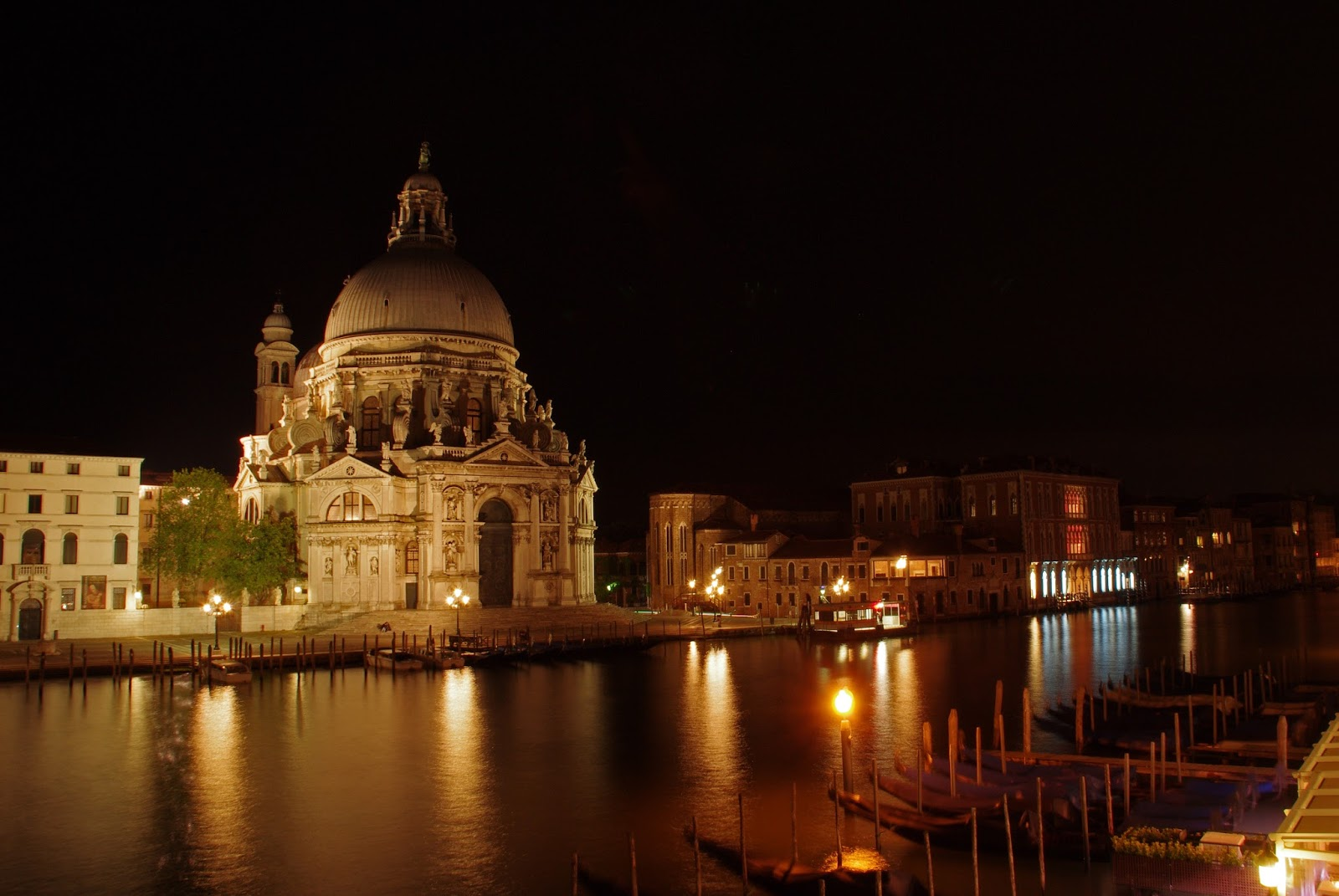 View from terrace at night Westin Europa & Regina Venice
