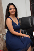 Radhika Mehrotra in a Deep neck Sleeveless Blue Dress at Mirchi Music Awards South 2017 ~  Exclusive Celebrities Galleries 119.jpg