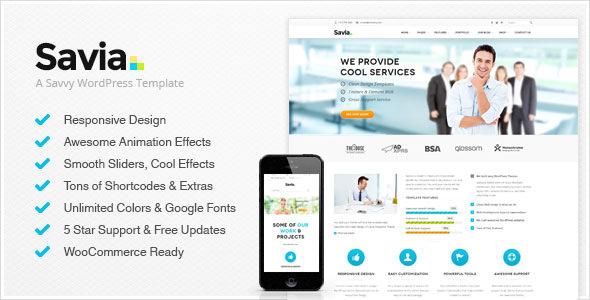Savia Responsive Multi-Purpose WordPress Theme Free Download