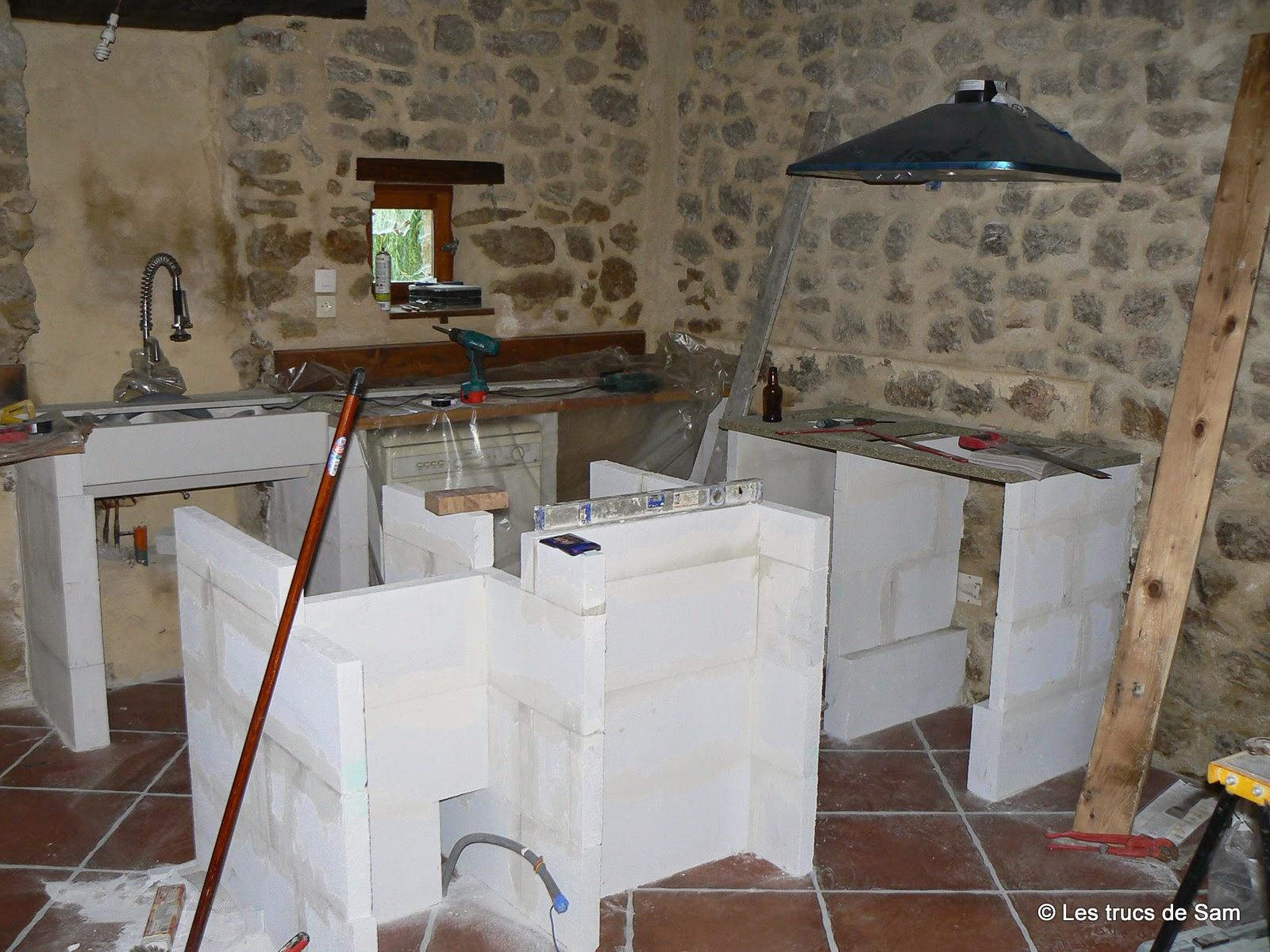 Cuisine Beton Cellulaire Amazing Salle De Bain Avec Meuble  # Meuble Siporex Cuisine