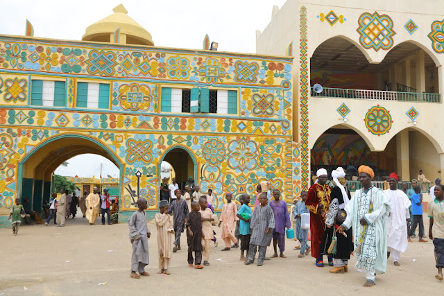 the colourful facade of the Palace of Zaria