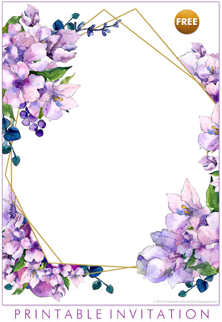 a free geometric wedding invitations template