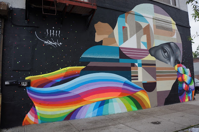 Our pals Dasic Fernandez and Rubin415 just finished this mural in Greenpoint, Brooklyn for the good folks over at the Centrefuge Public Art Project!