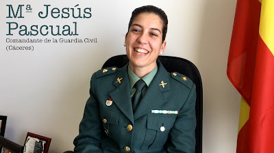 María Jesús Pascual. Comandante de la Guardia Civil