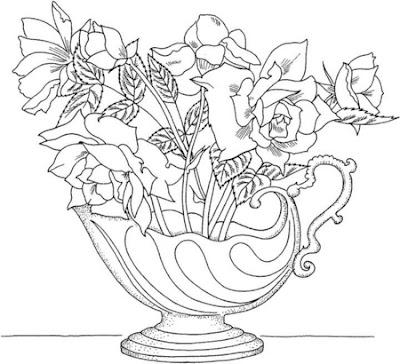 Floreros Para Colorear Bonitos Dibujos Para Colorear Floreros 21