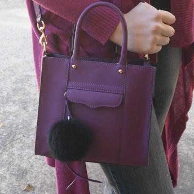 AwayFromTheBlue | Rebecca Minkoff plum purple mini MAB tote bag