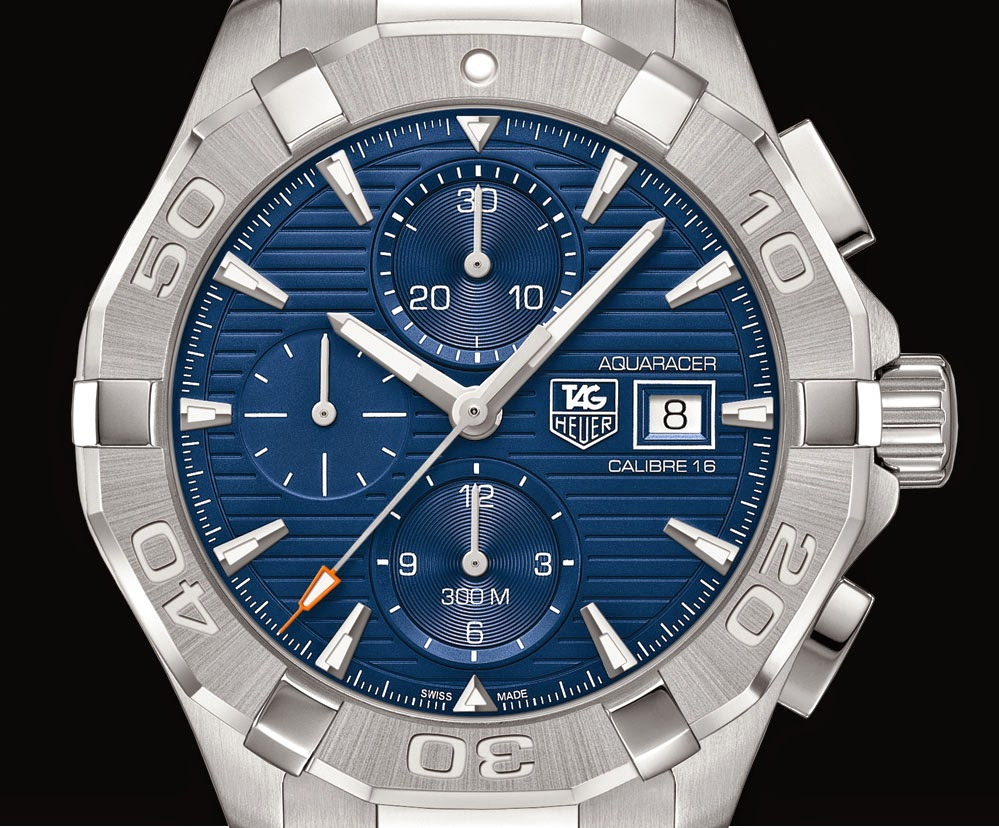 Tag heuer aquaracer 300m calibre 16 chronograph time and watches for Tag heuer aquaracer 300m