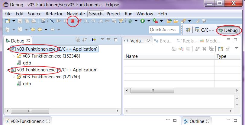 bigdev de: Eclipse C/C++: Cannot open output file * exe: Permission