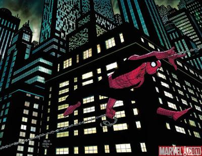 Spider man nad městem
