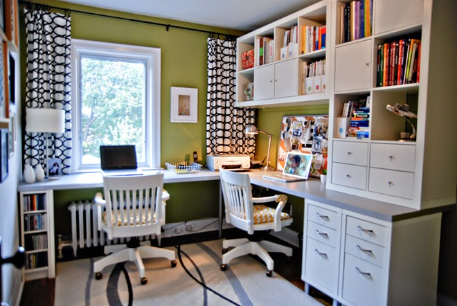 Rambling Renovators | home office for two ikea
