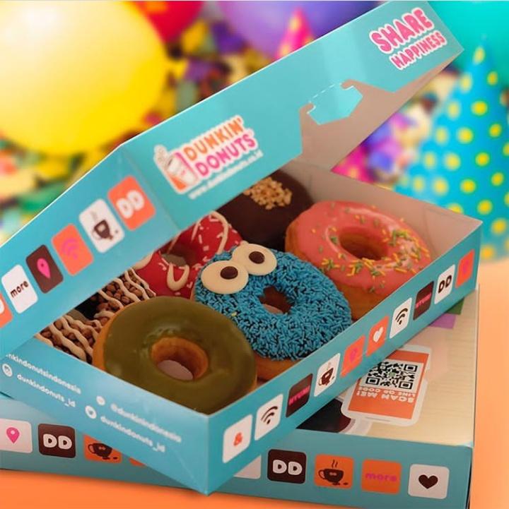 Promo Dunkin Donuts Beli 6 Gratis 6 Bulan Agustus 2018