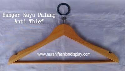 Hanger Kayu palang Anti Theft