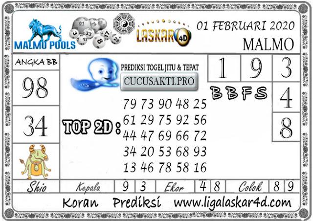 Prediksi Togel MALMO LASKAR4D 01 FEBRUARI 2020