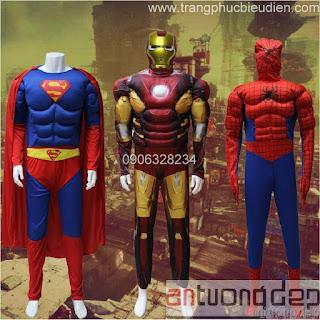 cho thuê trang phục siêu anh hùng