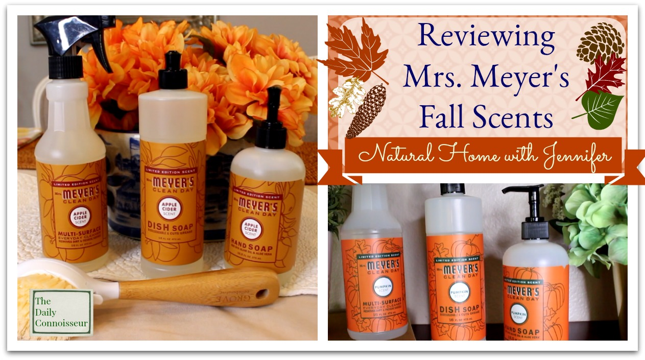 The Daily Connoisseur Reviewing The Mrs Meyer S Fall Scents Natural Home With Jennifer