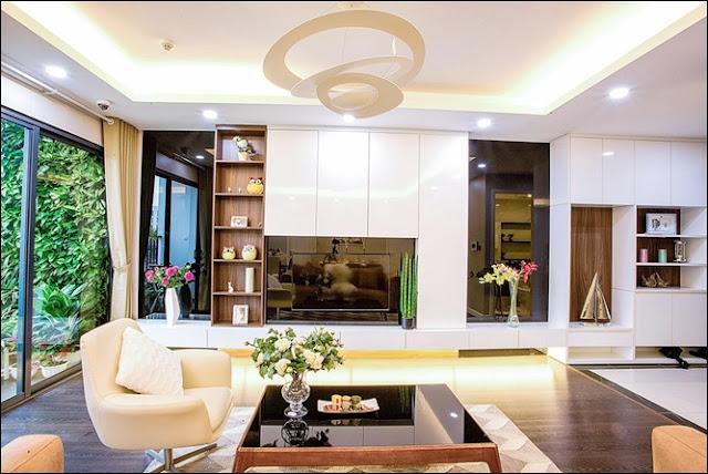 Phòng khách cực kỳ hiện đại và sang trọng