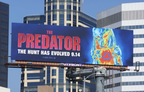 The Predator movie billboard