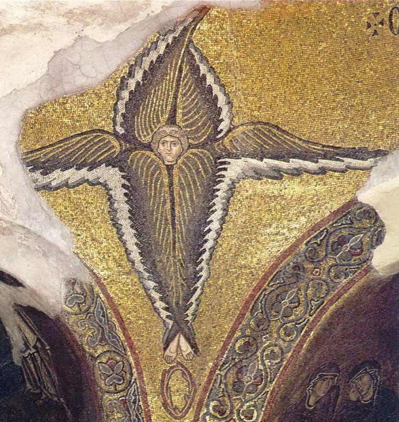 Bisanzio: Arcangeli, Cherubini, Serafini, Troni e Tetramorfi