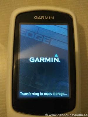 Garmin Edge 810, transferring to mass storage