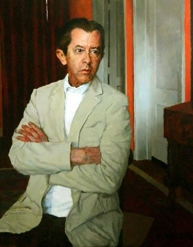 Douglas Ferrin, Portrait of Jay hellyer,  International Art Gallery, Self Portrait, Art Gallery, Portraits of Painters, Fine arts, Self-Portraits, Painter Douglas Ferrin
