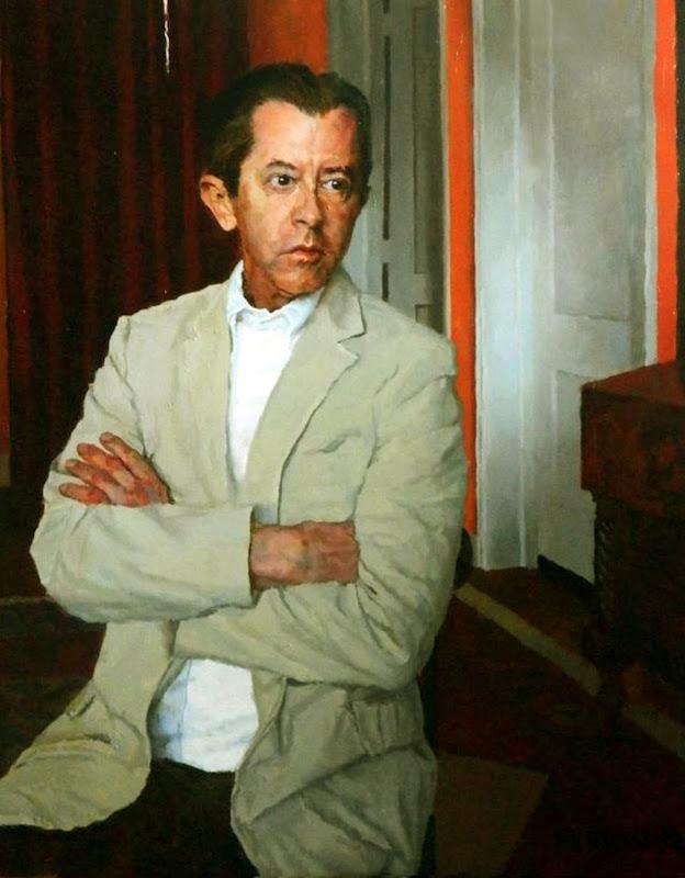 Douglas Ferrin, Portrait of Jay hellyer,  International Art Gallery, Self Portrait, Art Gallery, Portraits of Painters, Fine arts, Self-Portraits, Painter Douglas Ferrin