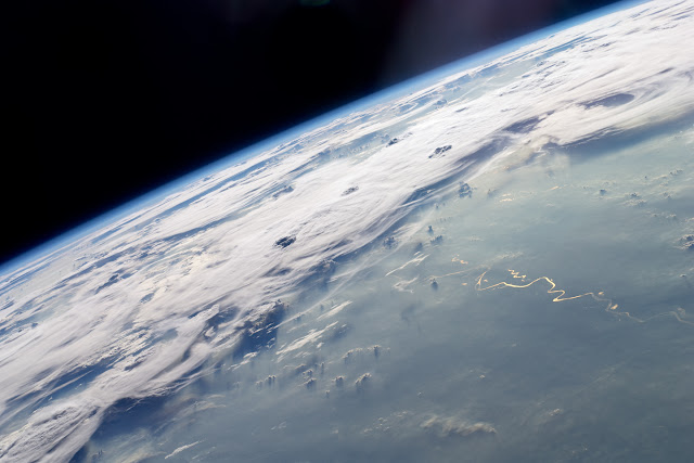Thunderstorms seen from International Space Station