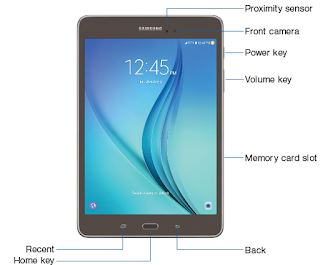"Samsung Galaxy Tab A 8.0"" (SM-T350NZWAXAR) user manual PDF"