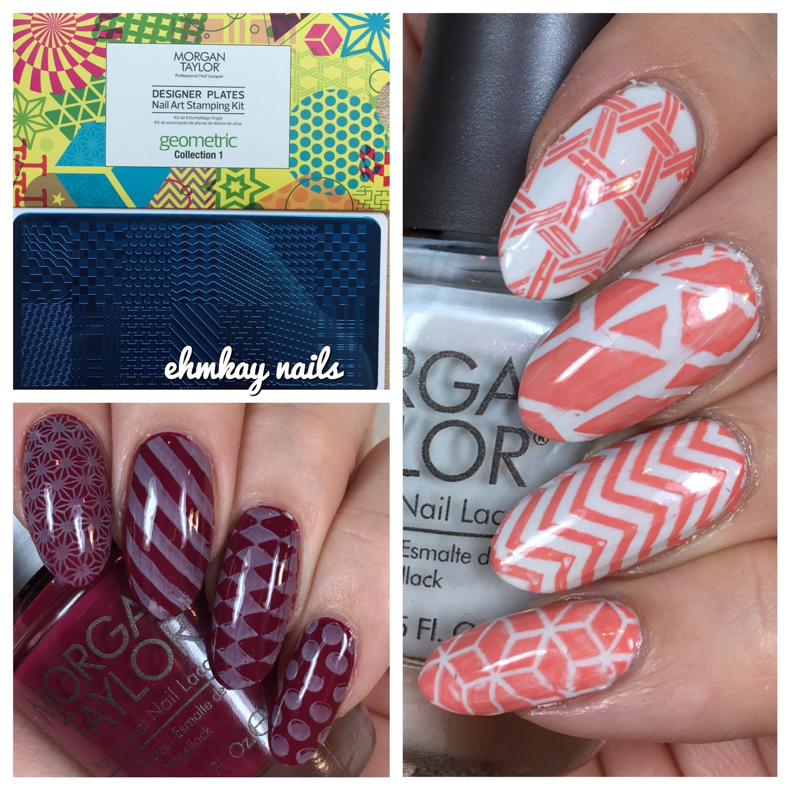 ehmkay nails: Morgan Taylor Geometric Stamping Kit