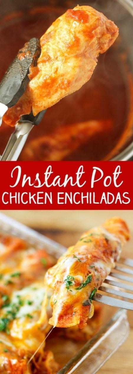 INSTANT POT PRESSURE COOKER CHICKEN ENCHILADAS RECIPES