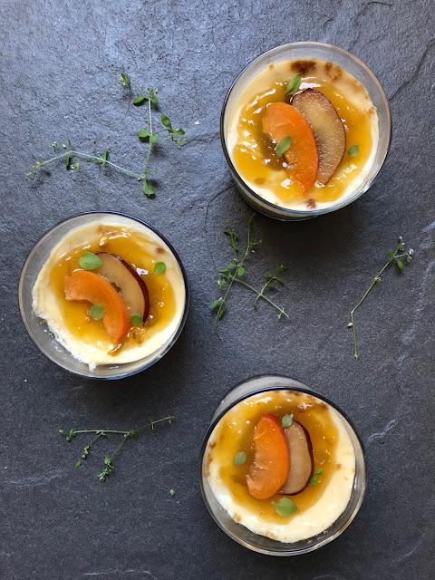 cheesecake de ciruelas en microondas receta