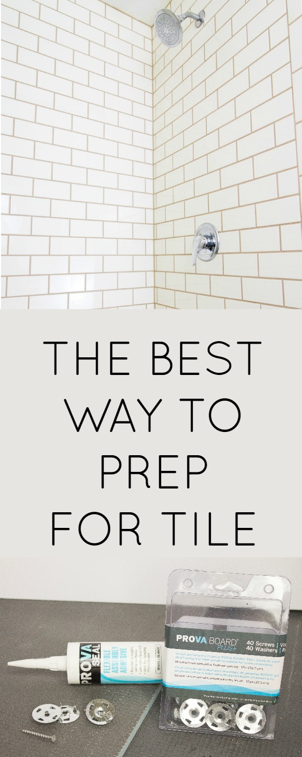 How to install tile backer board the easy way. The best way to waterproof and prep your shower before you retile it is with PROVA Board Plus+, a great cement board alternative.