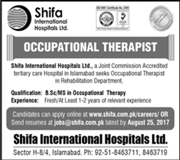 Jobs In Shifa International Hospital Islamabad  Aug 2017