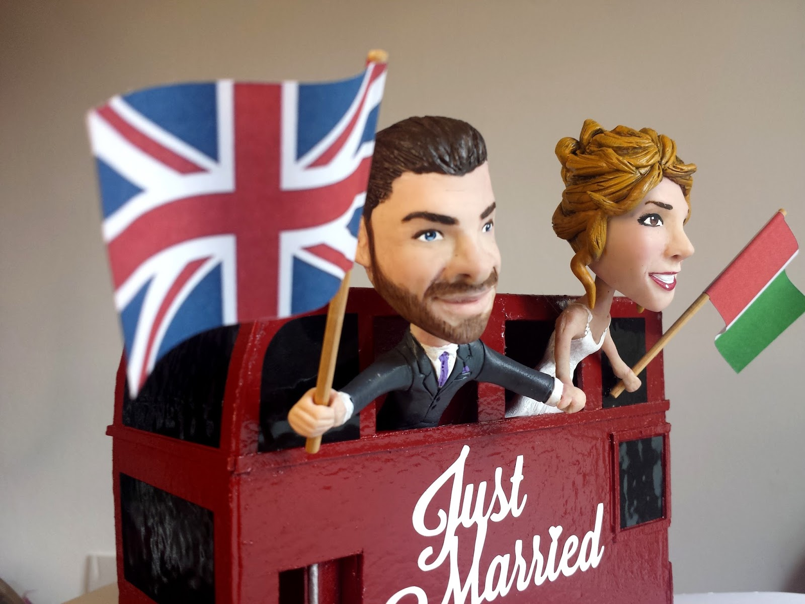 Double Decker Bus Cake Topper