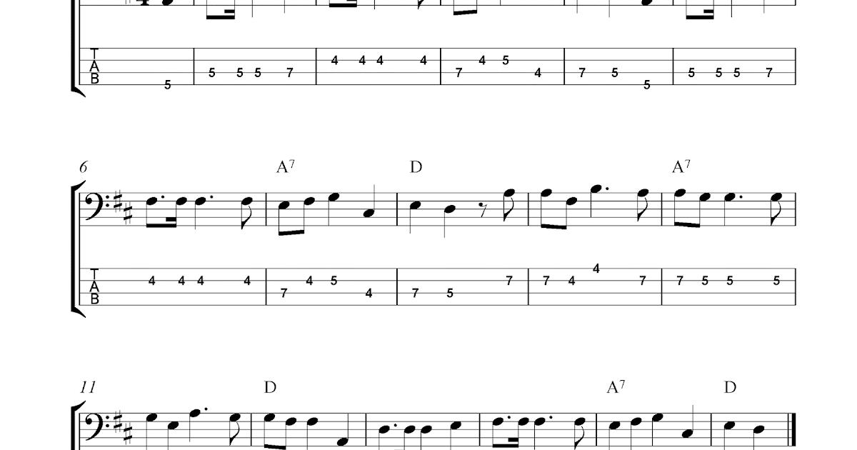 O Christmas Tree (O Tannenbaum), Free Christmas Bass Tab