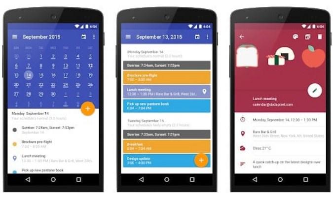 Aplikasi Kalender untuk Smartphone Android - Today Calendar