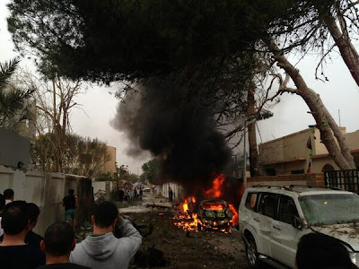 Car bomb damages French embassy in Tripoli, Libya