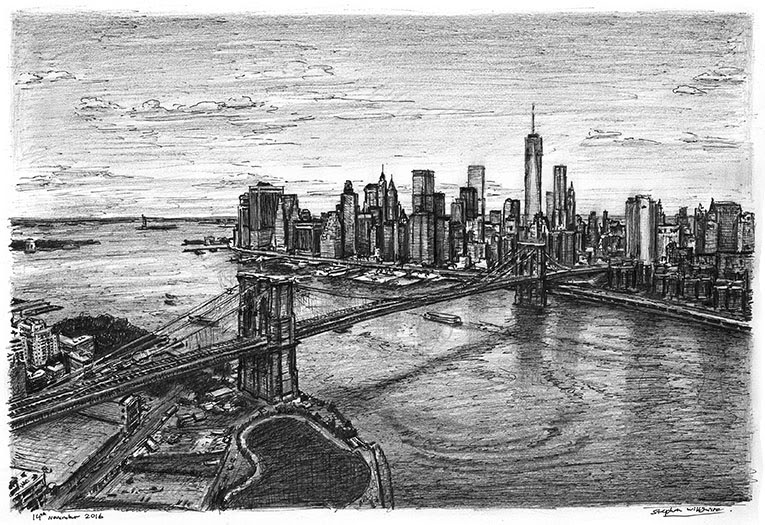 06-Manhattan-skyline-&-Brooklyn-Bridge-Stephen-Wiltshire-Urban-Drawings-from-Memory-with-Detailed-Cityscapes-www-designstack-co