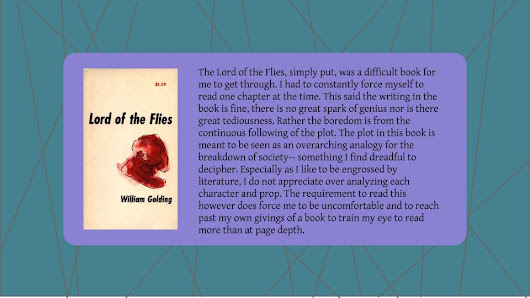 Summer Review//The Lord of the Flies