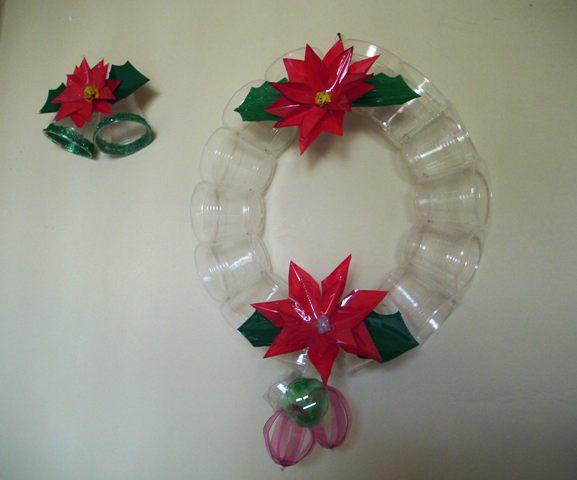 Mi mundo tu mundo adornos navidad con botellas pl sticas - Adornos navidenos para hacer con ninos ...