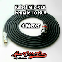 Kabel Mic XLR  4 Meter RCA to Female