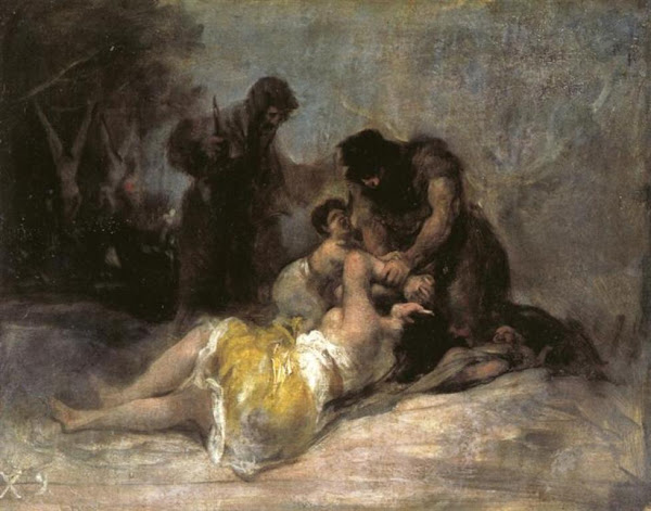 Scene of Rape and Murder by Francisco de Goya y Lucientes, Macabre Art, Macabre Paintings, Horror Paintings, Freak Art, Freak Paintings, Horror Picture, Terror Pictures