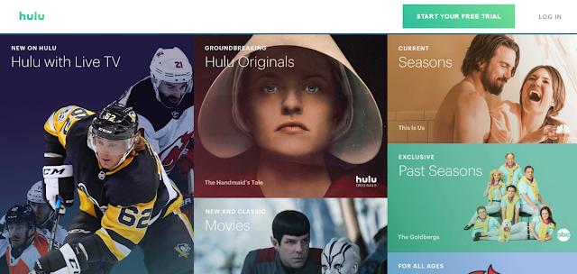 صورة من داخل موقع Hulu