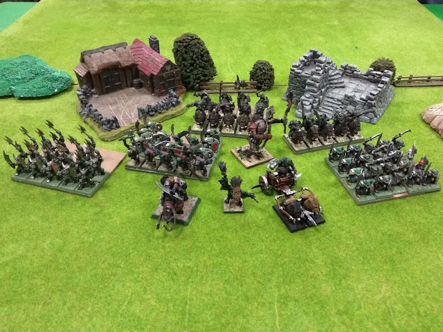 ejército pintado Orcos Orcs painted army Kings of War KOW