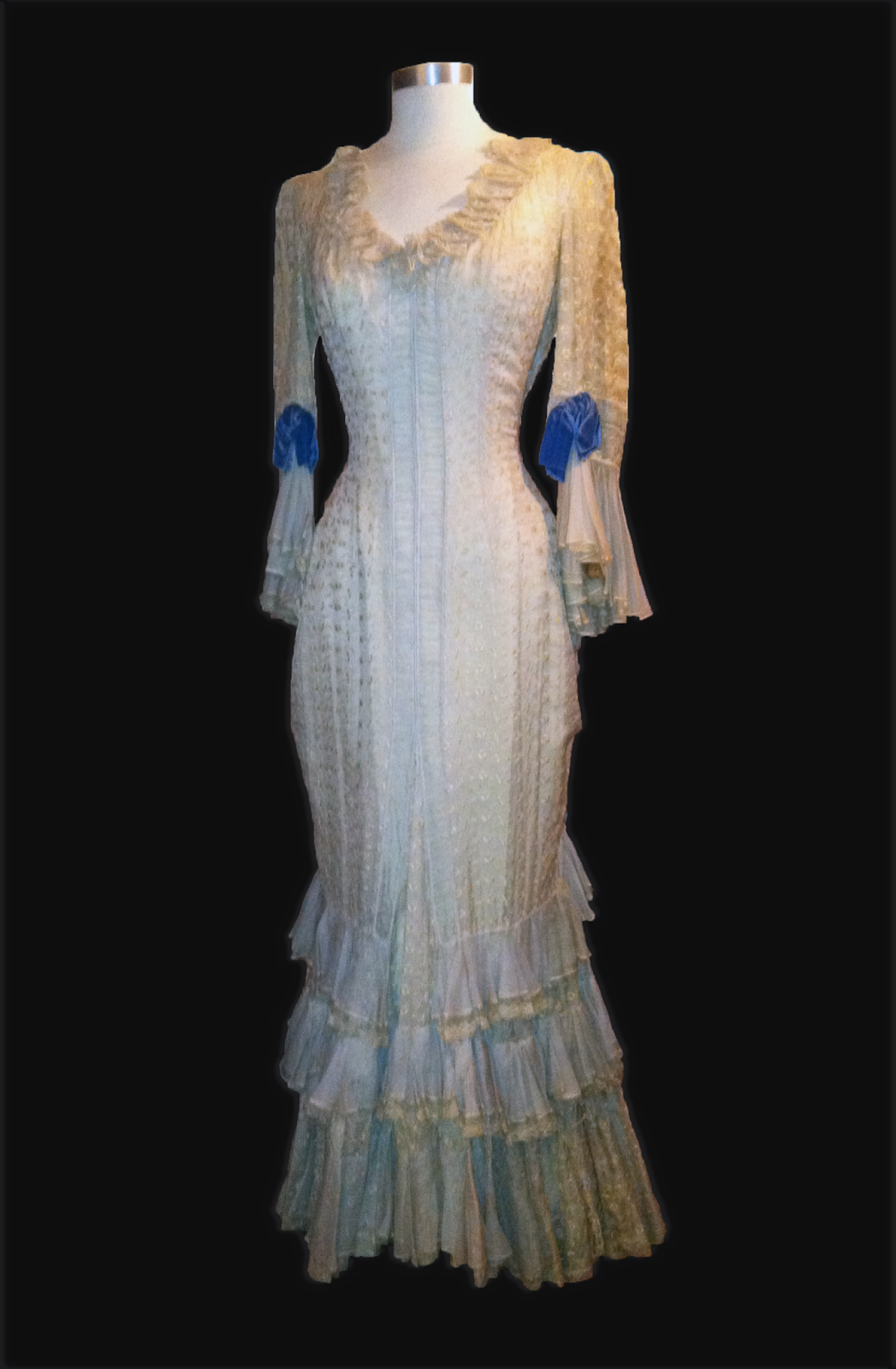 "Linda Darnell gown designed by Rene Hubert worn in ""Centennial Summer"""