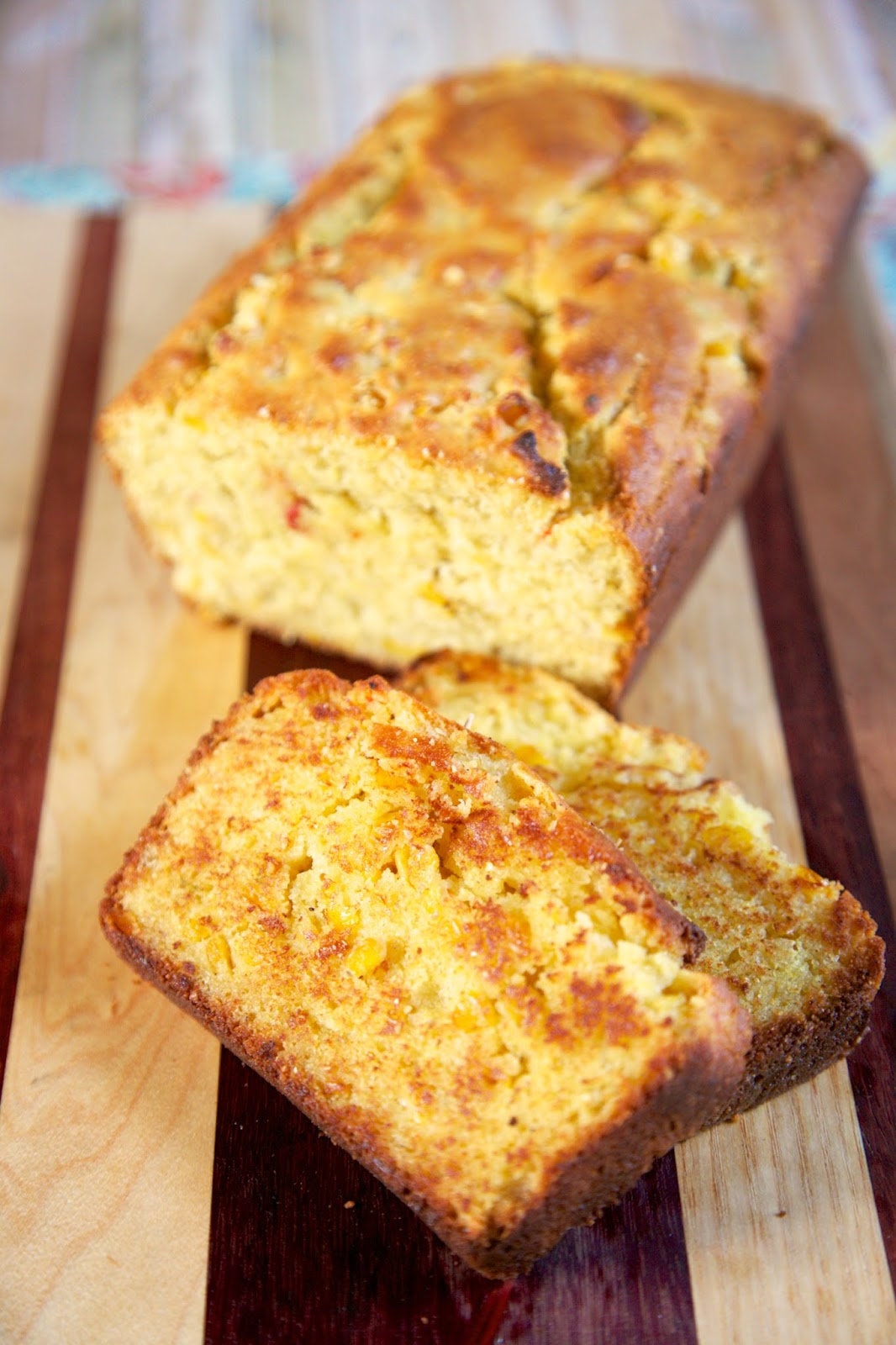 Texas Toast Cornbread - tastes just like the cornbread from your favorite BBQ Joint! Flour, cornmeal, sugar, baking powder, eggs, heavy cream, oil, honey and Mexicorn. Just a hint of sweetness. Grill slices to get maximum flavor! Great with soups and chili! #cornbread #bread #cornbreadrecipe #breadrecipe