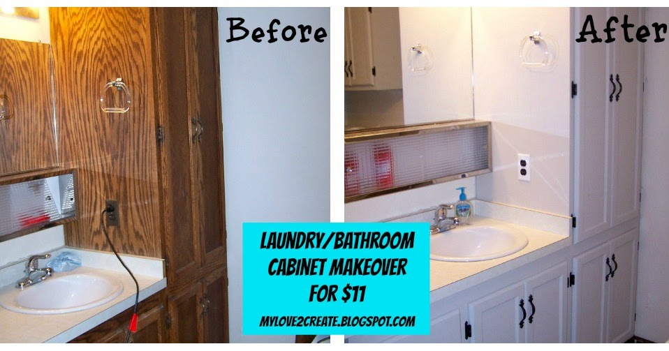 Laundry/Bathroom Cabinet Makeover