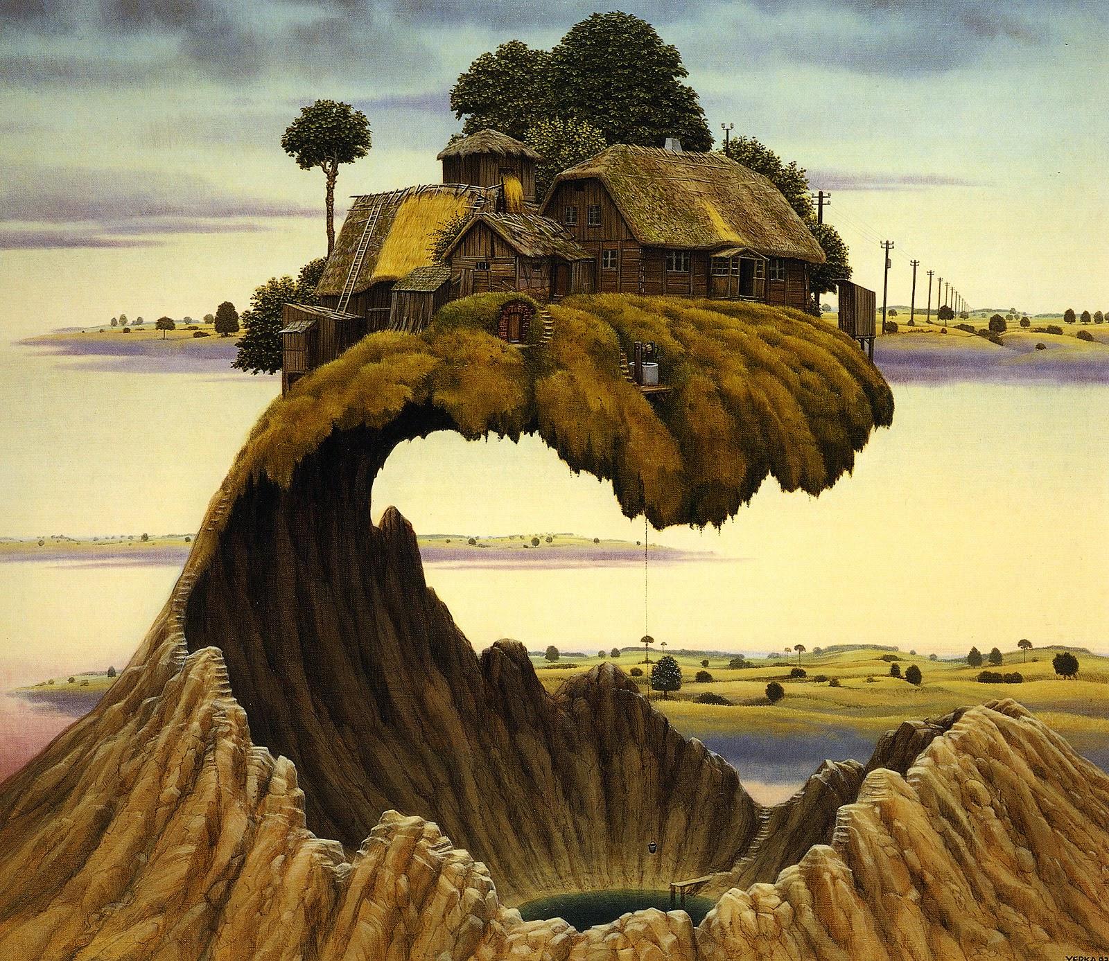 Mantenha Silêncio - Jacek Yerka e seu surrealismo fantástico ~ Polonês