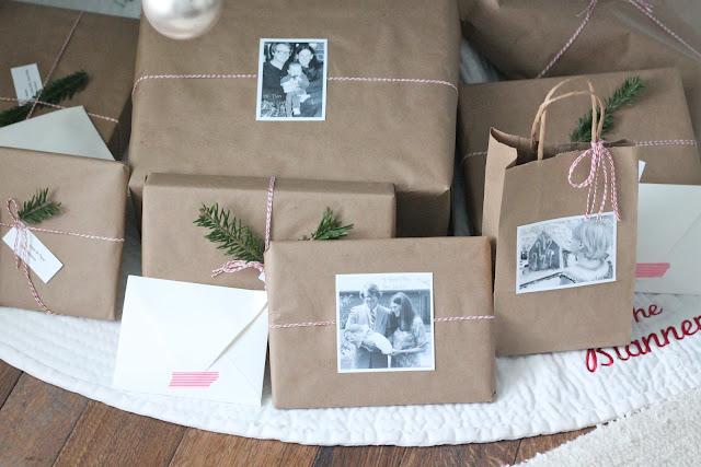 easy gift wrap idea via www.julieblanner.com