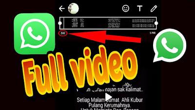 2 Cara Mengupload Video Di Story Whatsapp Lebih Dari 30 Detik Kangmuj